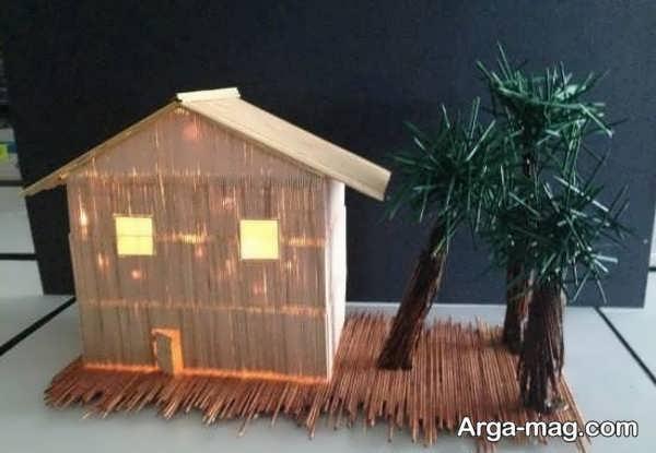 مدل کاردستی چوبی تماشایی