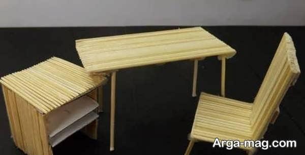 کاردستی چوبی با طرحی ساده