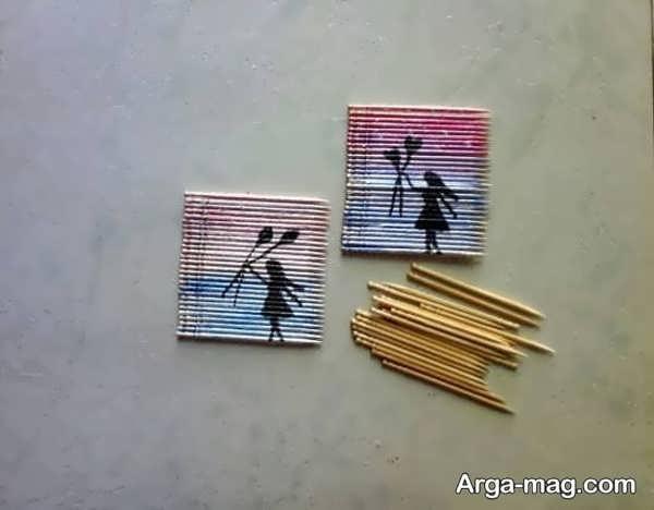 مدل کاردستی چوبی دوست داشتنی