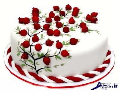 تزیین زیبای کیک خامه ای