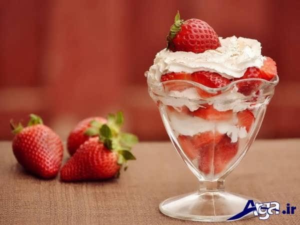 تزیین بستنی به شکل ساده و زیبا
