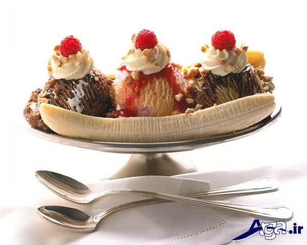 مدل های تزیین بستنی میوه ای