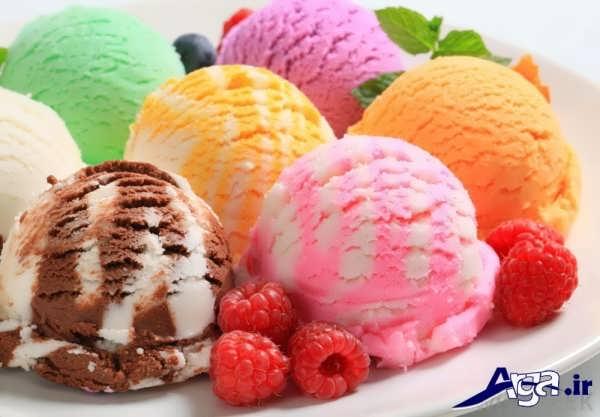 تزیین کردن بستنی در منزل