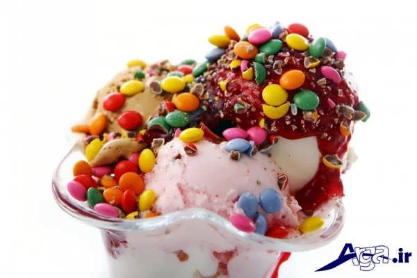 تزیین بستنی با اسمارتیز