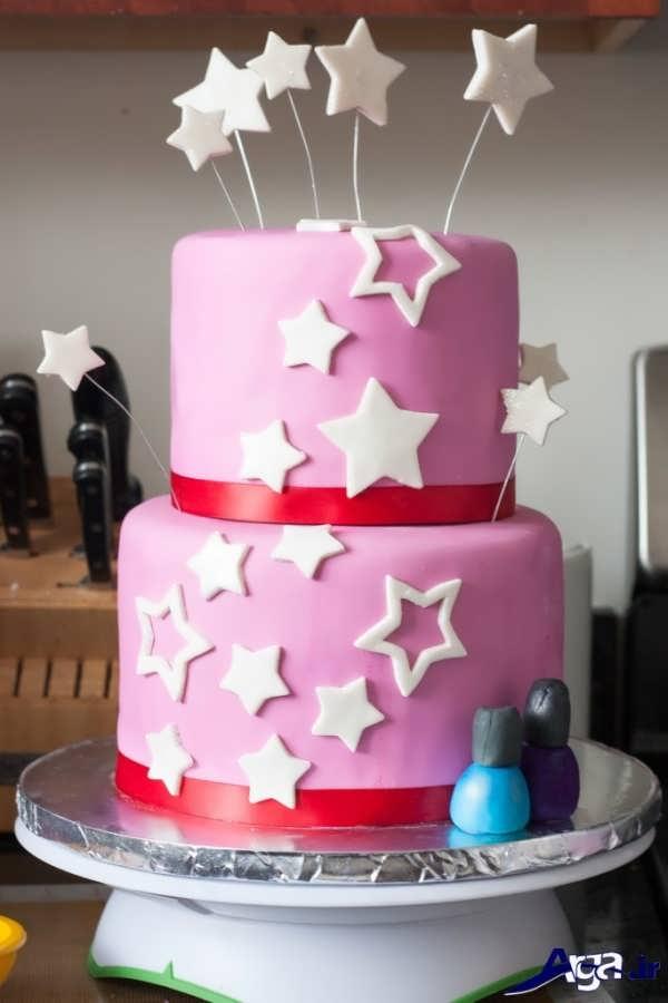 تزیین کیک عروسی با طرح ستاره