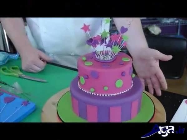 مدل تزیین کیک شیک