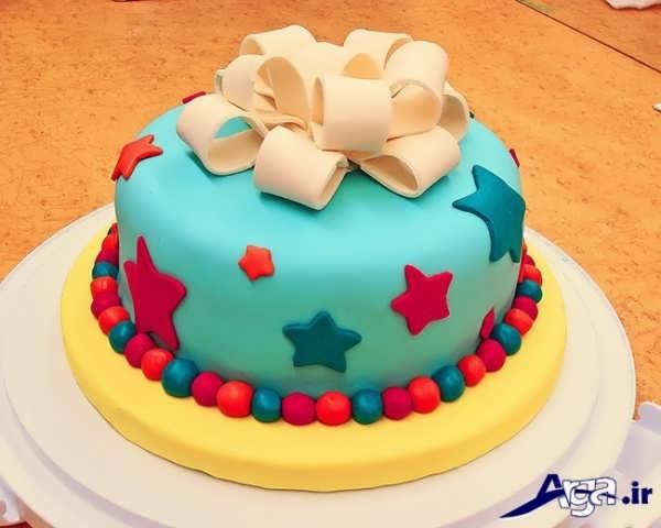 مدل تزیین کیک با خمیر فوندانت