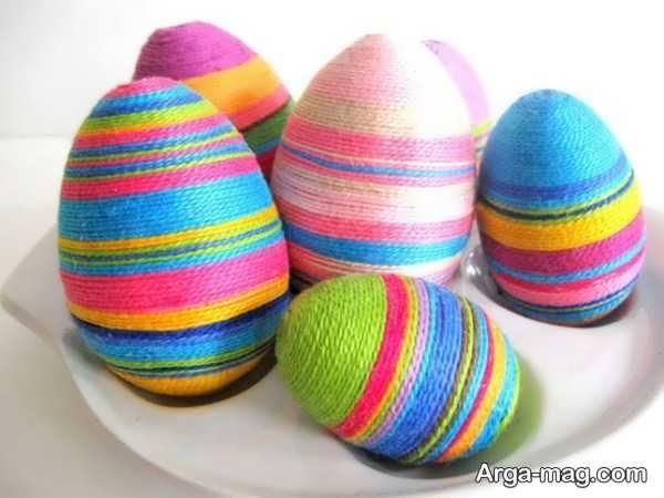تزیینات تخم مرغ با رنگ