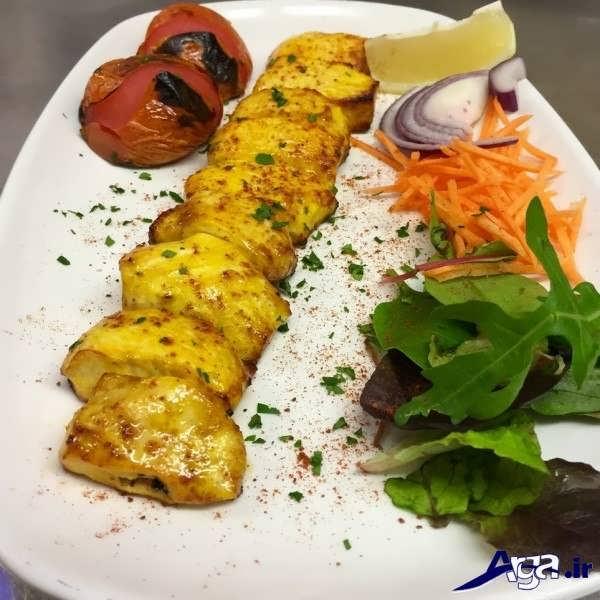 تزیین جوجه کباب با سبزیجات