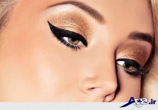 مدل آرایش ملایم چشم