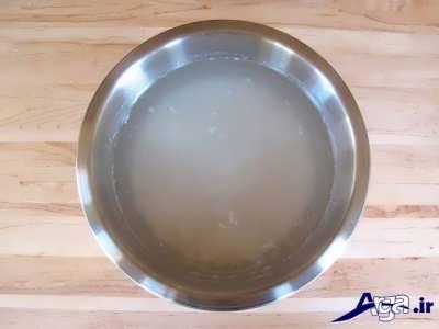 خیس کردن برنج