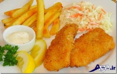 تزیین زیبا ماهی سوخاری