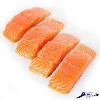تکه تکه کردن ماهی سوخاری در ابعاد مشخص