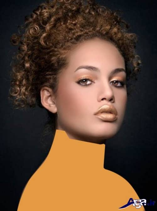 مدل موی فر کوتاه و مدل رنگ مو