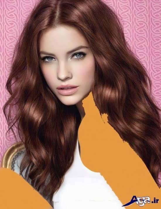 انواع رنگ موی فندقی زنانه و دخترانه