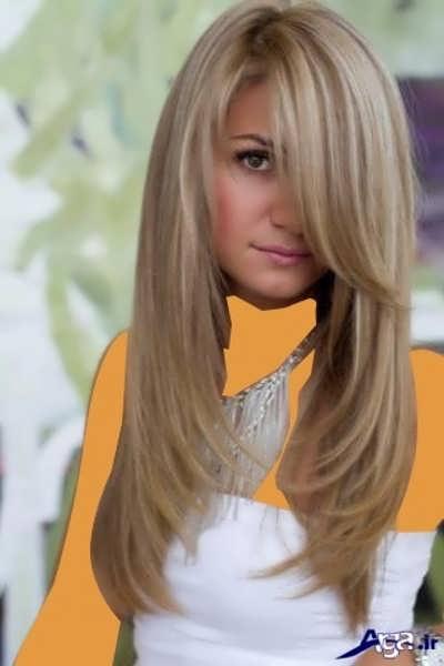 ترکیب رنگ موی کنفی کارملی با هایلایت استخوانی
