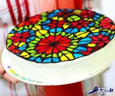انواع مدل های تزیین کیک با ژله