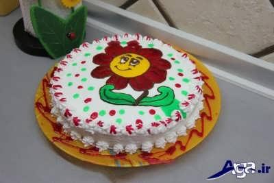 تزیین کیک با ژله بریلو برای کودکان