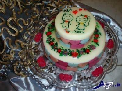 انواع تزیین کیک با ژله بریلو