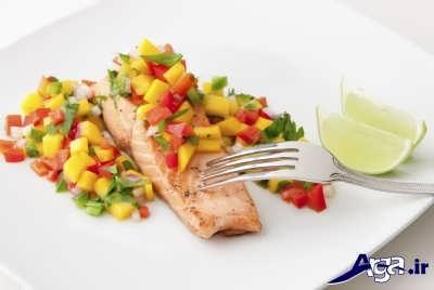 روش تهیه ماهی سالمون با سس سالسا