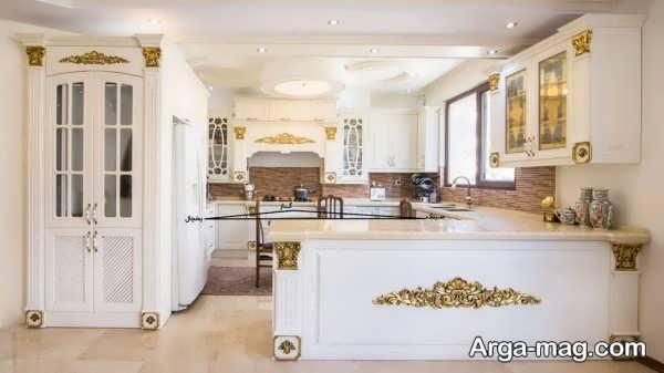 مدل شیک کابینت آشپزخانه با طراحی جدید