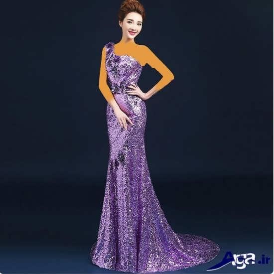 مدل لباس مجلسی کره ای زیبا و بلند