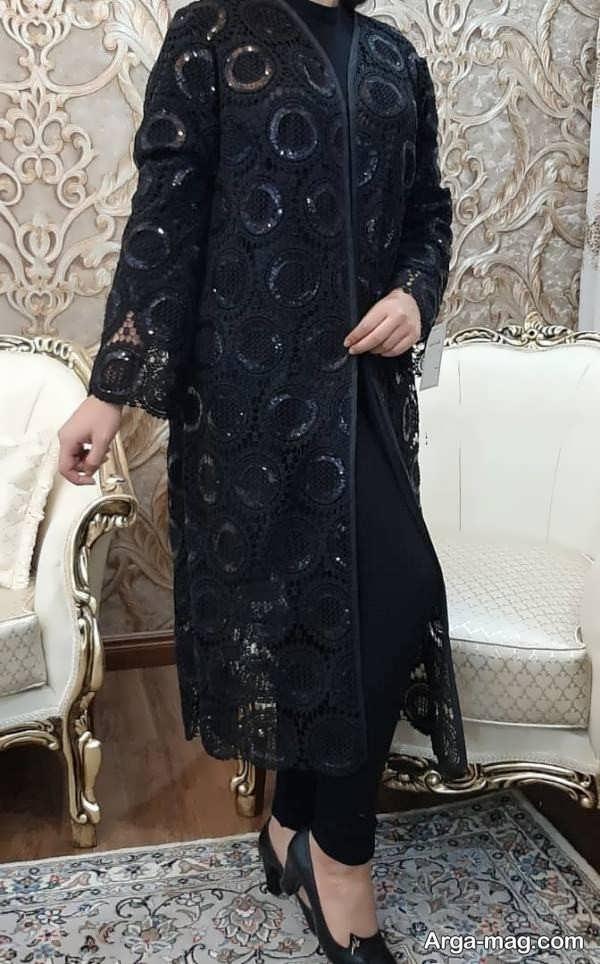 مدل جذاب مانتو گیپور مجلسی