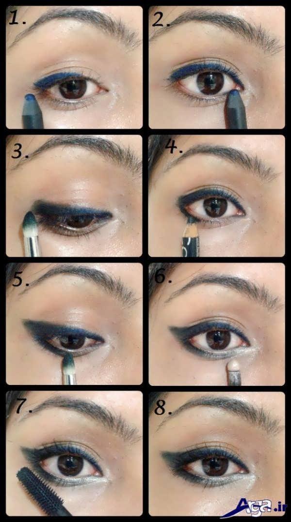 آموزش کشیدن خط چشم به صورت تصویری