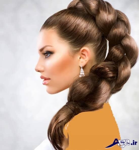 آرایش موی ساده به کمک بافت مو