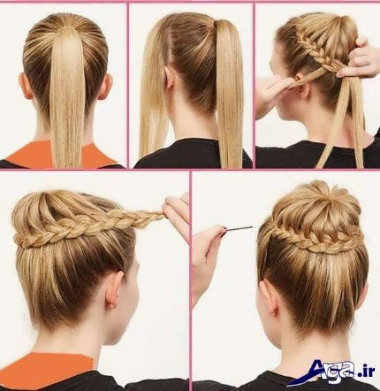 انواع مدل ارایش موی ساده با بات های تزیینی