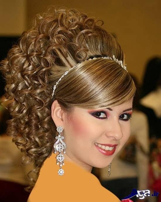 مدل شینیون ساده مو های فر