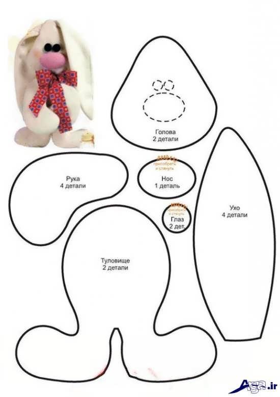 الگو ساخت عروسک نمدی