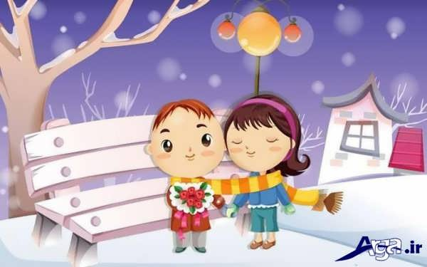 تصاویر عاشقانه کارتونی