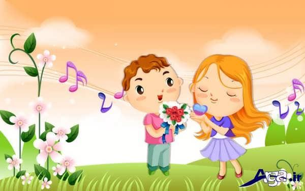 عکس عاشقانه انیمیشن