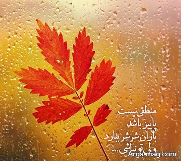 عکس نوشته های دلتنگی پاییزی