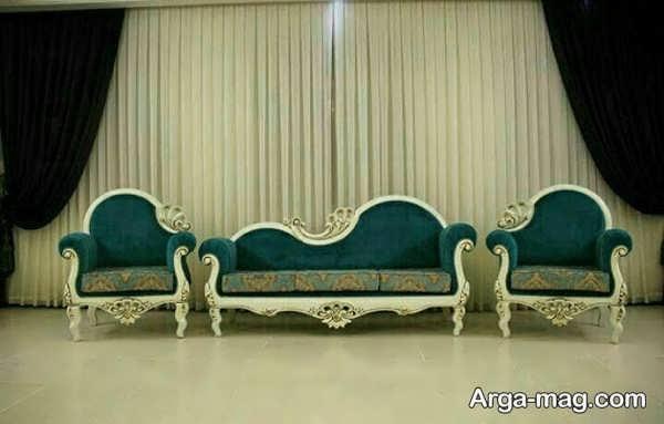 مبل سلطنتی شزلون با طرح شیک