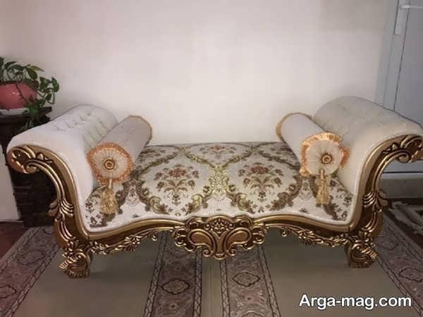 مبل سلطنتی شزلون با طرح جدید