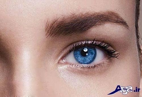 مدل ابرو کوتاه برای چشم های رنگی