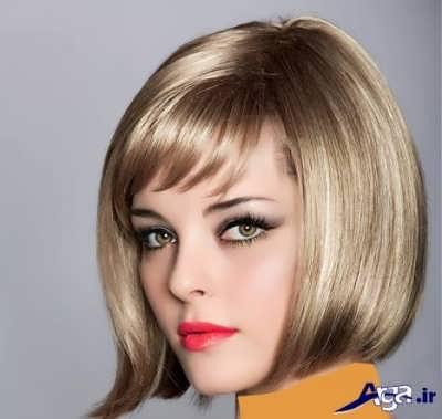 مدل رنگ موی بژ دودی روشن ترکیبی