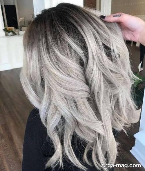 رنگ مو روشن دودی