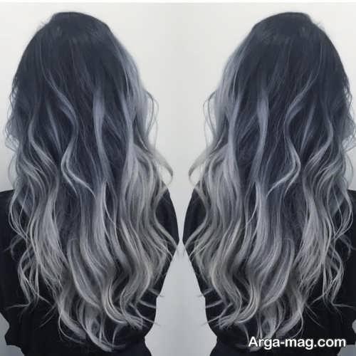 رنگ موی زنانه دودی