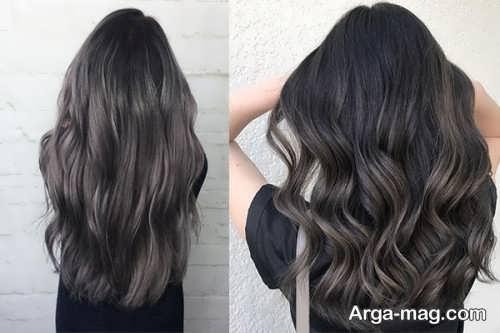 مدل رنگ مو زیبا دودی