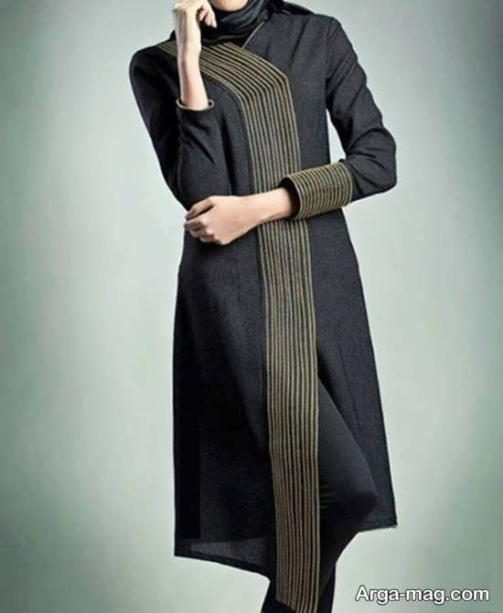 مدلی زیبا از مانتو دانشجویی