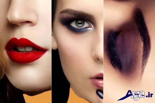 مدل آرایش چشم و لب عروس 2016