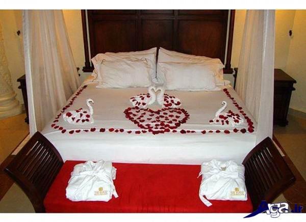 تزیین اتاق خواب عروس با گل