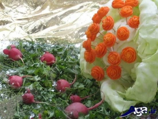 انواع مدل های تزیین هویج و سبزی خوردن