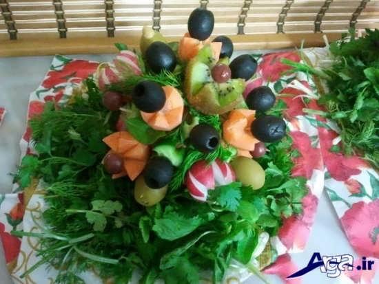 سبزی آرایی با هویج