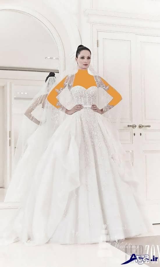لباس عروس آستین حلقه ای اسکالرت