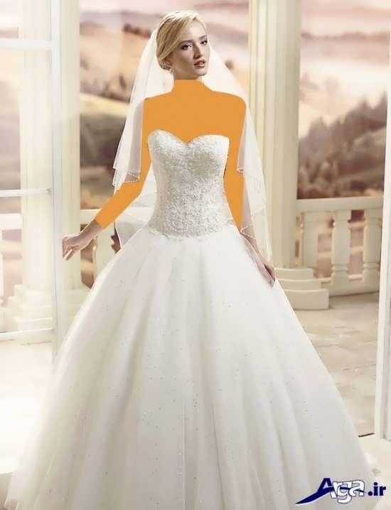 لباس عروس اسکالرت با طراحی منحصر به فرد