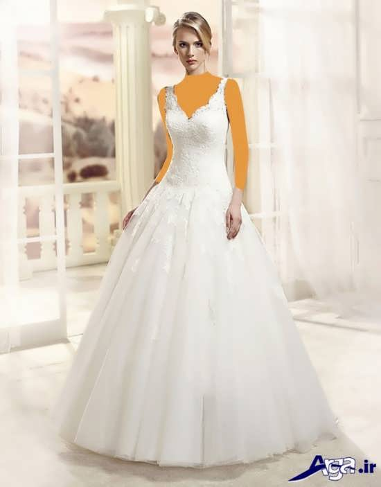 لباس عروس بلند و پفی